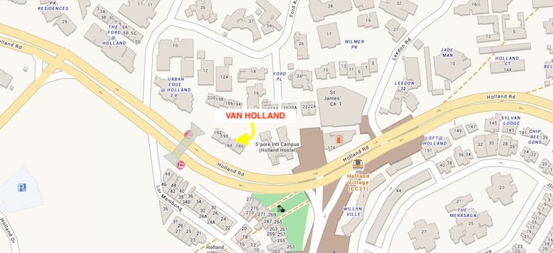 Location of Van Holland Map
